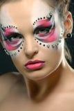 Dziewczyna z galanteryjnym makeup Zdjęcie Royalty Free