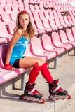 Dziewczyna z inliners Zdjęcia Royalty Free