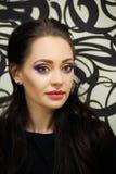 Dziewczyna z jaskrawym akwareli makeup Obrazy Royalty Free