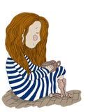 Dziewczyna z kakao Zdjęcie Stock