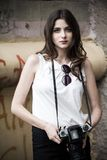 Dziewczyna z kamerą Obraz Stock