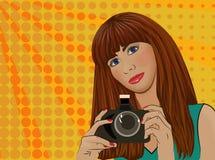 Dziewczyna z kamerą Zdjęcie Stock