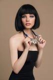 Dziewczyna z koczek fryzurą obrazy royalty free