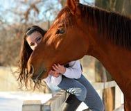 Dziewczyna z koniem Fotografia Royalty Free