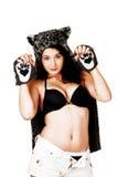 Dziewczyna z kotów cloves. Obraz Royalty Free