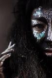 Dziewczyna z kreatywnie twarzy sztuki makeup Obrazy Royalty Free