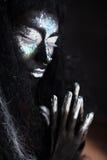 Dziewczyna z kreatywnie twarzy sztuki makeup Zdjęcia Royalty Free
