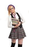 Dziewczyna z książkami Zdjęcie Stock