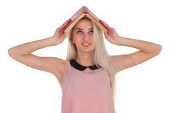 Dziewczyna z książkami Obrazy Stock