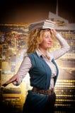 Dziewczyna z książkami na głowie Obraz Royalty Free