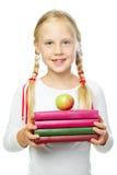 Dziewczyna z książkami Zdjęcia Stock
