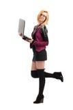 Dziewczyna z laptopem obraz royalty free