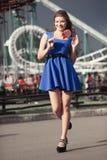 Dziewczyna z lizakiem Obrazy Royalty Free