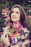 Dziewczyna z motylami Zdjęcia Stock