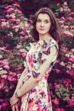 Dziewczyna z motylami Zdjęcie Royalty Free