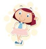 Dziewczyna z nową suknią Obraz Stock