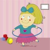 Dziewczyna z obręczem Obraz Royalty Free