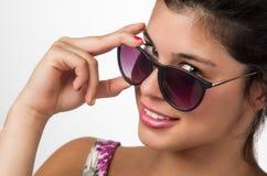 Dziewczyna z okularami przeciwsłoneczne Obraz Royalty Free