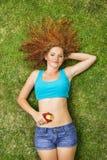 Dziewczyna z owoc Obraz Stock
