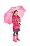 Dziewczyna Z parasolem Zdjęcia Royalty Free