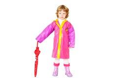 Dziewczyna z parasolem Fotografia Stock