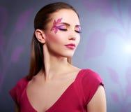 Dziewczyna z pięknym makeup zdjęcie royalty free