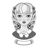 Dziewczyna z pięknym włosy Portret Zdjęcia Royalty Free