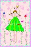Dziewczyna z pigtail abstrakcjonistyczną miłością ilustracji