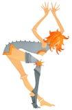 Dziewczyna z problemem joints-2 ilustracji