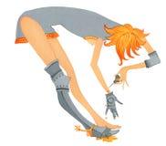 Dziewczyna z problemem joints-4 ilustracja wektor