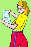 Dziewczyna z prześcieradłem papier Obrazy Stock
