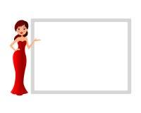 Dziewczyna z przedstawiać royalty ilustracja