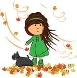 Dziewczyna z psem Zdjęcia Royalty Free