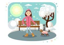 Dziewczyna z psem Fotografia Stock