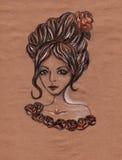 Dziewczyna z różami Zdjęcie Royalty Free