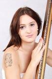 Dziewczyna z ramą Fotografia Stock