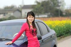 dziewczyna z s wykazując Fotografia Stock