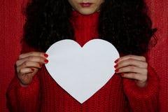 Dziewczyna z sercem Zdjęcia Stock