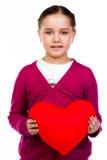 Dziewczyna z sercem obraz royalty free