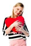 Dziewczyna z sercem zdjęcia royalty free