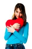 Dziewczyna z sercem obrazy stock