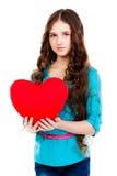 Dziewczyna z sercem obrazy royalty free