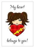 Dziewczyna z sercem Obraz Stock