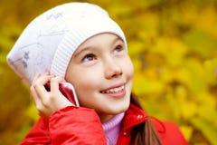 Dziewczyna z telefonem Obrazy Royalty Free