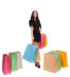 Dziewczyna z torba na zakupy fotografia royalty free