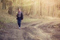 Dziewczyna z wierzbą Zdjęcie Royalty Free