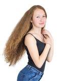 Dziewczyna z wspaniałym włosy Zdjęcie Royalty Free