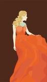 Dziewczyna z złotym włosy Obraz Royalty Free