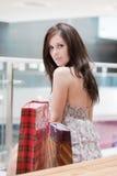 Dziewczyna z zakupami Zdjęcia Stock
