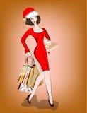 Dziewczyna z zakupami. Fotografia Royalty Free